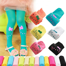 Girls dance tights 2018 spring summer girl KT candy color Pantyhose Velvet Fabric Tights Stocking Pants