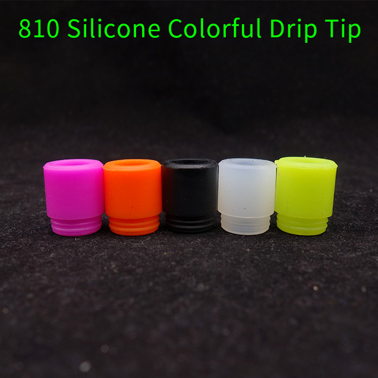 10pcs/lot silicone 810 Disposable driptips test rubber mouthpiece with Individually Package