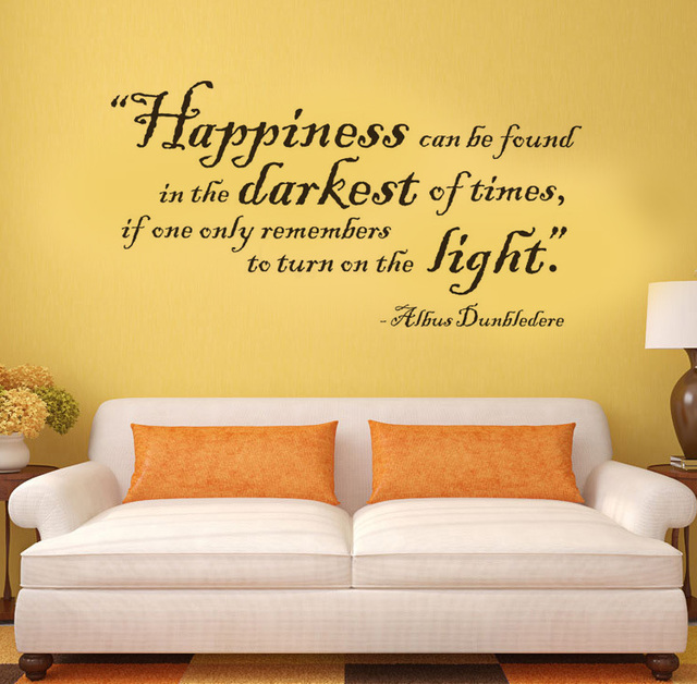 Harry Potter Happiness can be found vinyl quote wall decal home ...