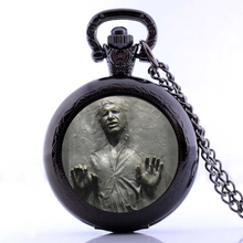 Han Solo Frozen In Carbonite Pocket Watches Necklace