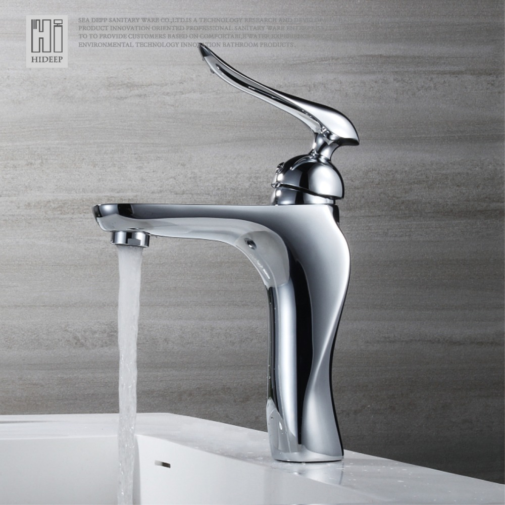 Hot and cold water faucet for outdoor sink - Hideep Solid Copper Basin Faucet Hot And Cold Water Wash Bathroom Faucet Washbasin Mixer Waterfall Taps
