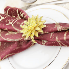 12PCS hotel golden creative napkin buckle ring cloth paper towel