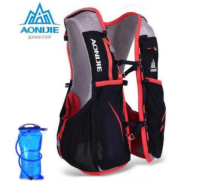 AONIJIE Men Women 5L Lightweight Trail Running Backpack Outdoor Sports Hiking Racing Bag With 1.5L Water Bag aonijie men women outdoor sports lightweight running 8l backpack marathon cycling hiking bag with 1 5l hydration water bag