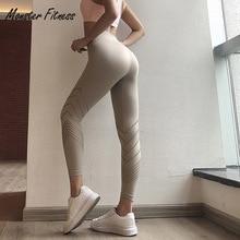 2018 Women Yoga Pants Cropped Trousers Sport Leggings High Waist Push Up Workout Gym Running Workout Fitness Sport Leggings two tone cropped gym leggings