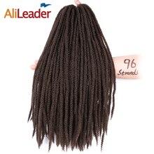 Alileader афро кудрявый Малый Marley волос 16 дюймов 96 нитей/шт вязанная косами японских Kanekalon Волокно природных косу