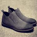 2016 genuine leather boot male restoring ancient ways lazy set foot ankle boots tooling Chelsea desert boots men's fashion boot