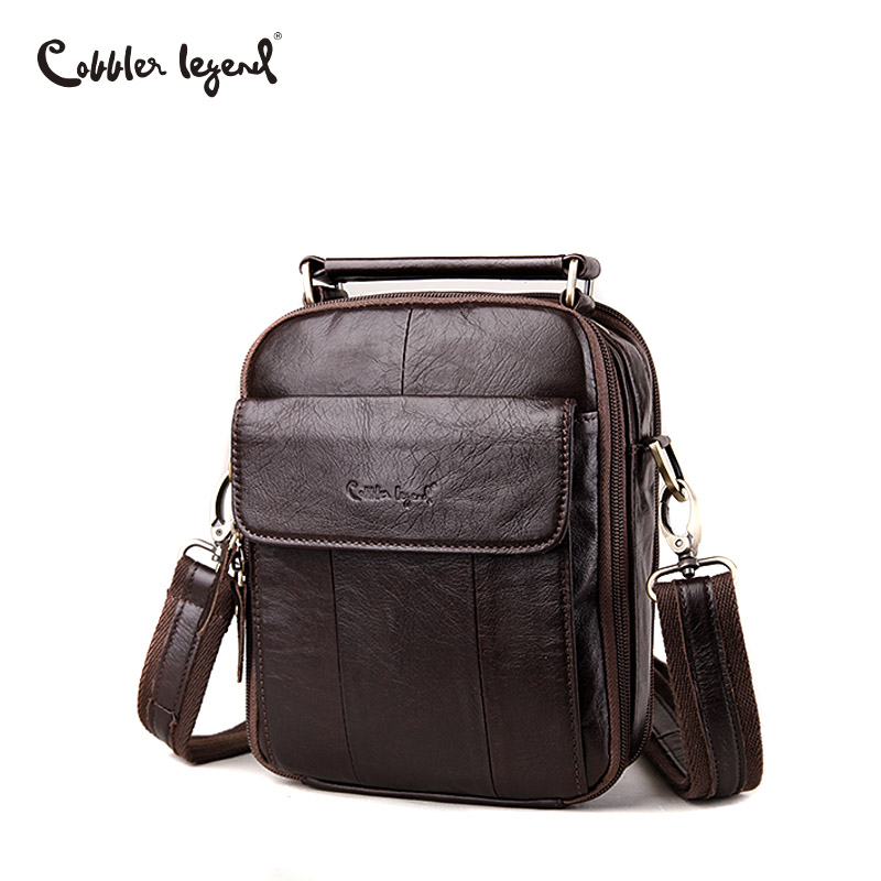 Cobbler Legend Men Messenger Bags Top Genuine Leather Designer Handbags Man Shoulder CrossBody Bag Male Quality Mens Bag Cowhide цена