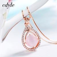 Cdyle Necklaces Women Pendants Elegant Luxury S925 Sterling Silver Fashion Jewelry Simple Crystals Bijoux Australian Rhinestone