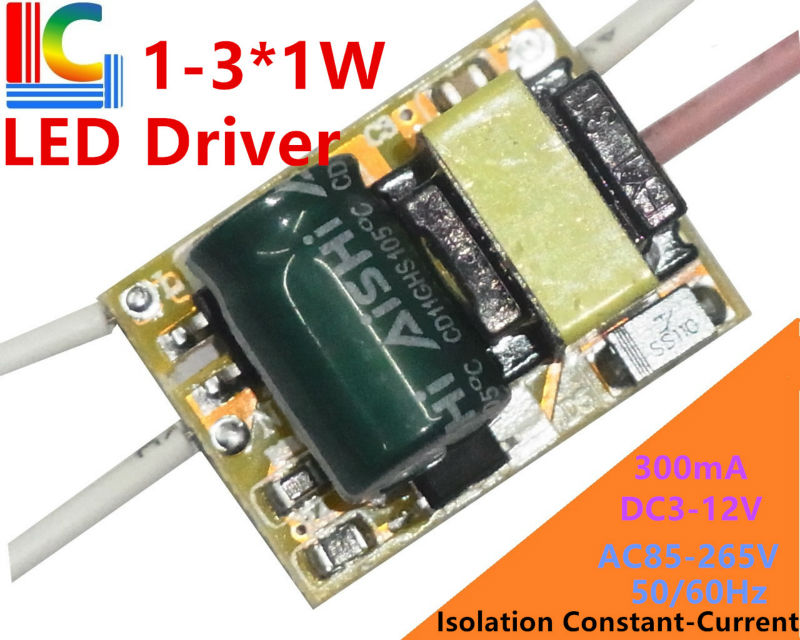 10pcs/lot 3X1W led driver 3*1W driver 1W 2W 3W lamp driver 85-265V input for E27 GU10 E14 LED lamp high quality and freeshipping