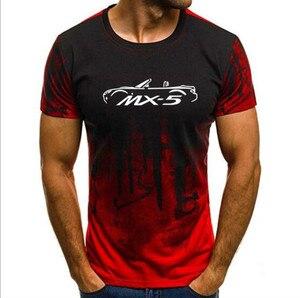 2019 شحن مجاني الرجال T قمصان تي شيرت مطبوع الصيف مازدا Mx5 التمويه قصيرة الأكمام التي شيرت
