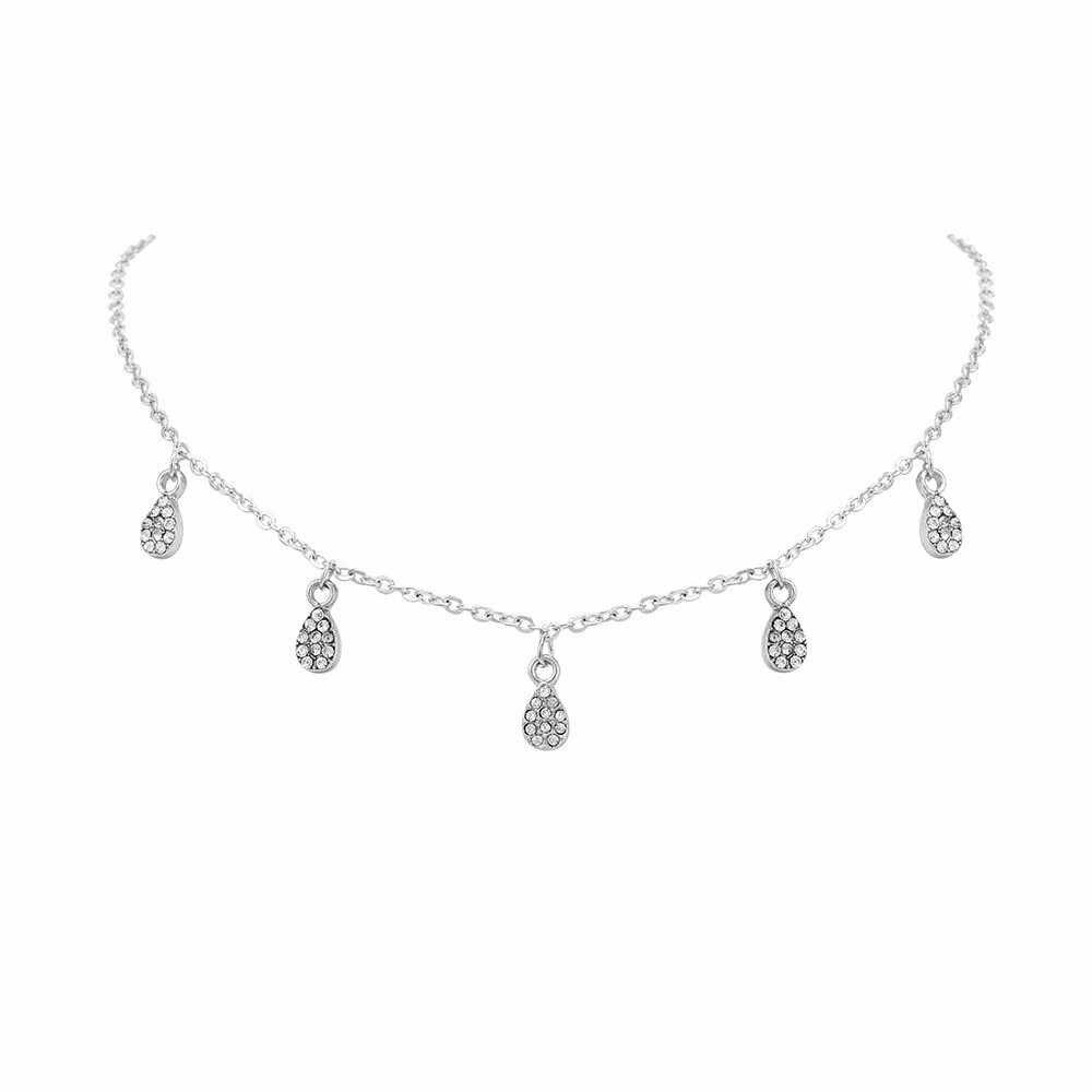Nowy naszyjnik kobiety popularne biżuteria śliczny pełny spadek naszyjnik moda osobowość złoty komunikat naszyjnik Choker biżuteria hurtowych