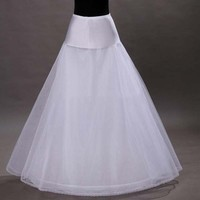 2016 New Arrives 100% High Quality A Line Tulle Wedding Bridal Petticoat Underskirt Crinolines for Wedding Dress