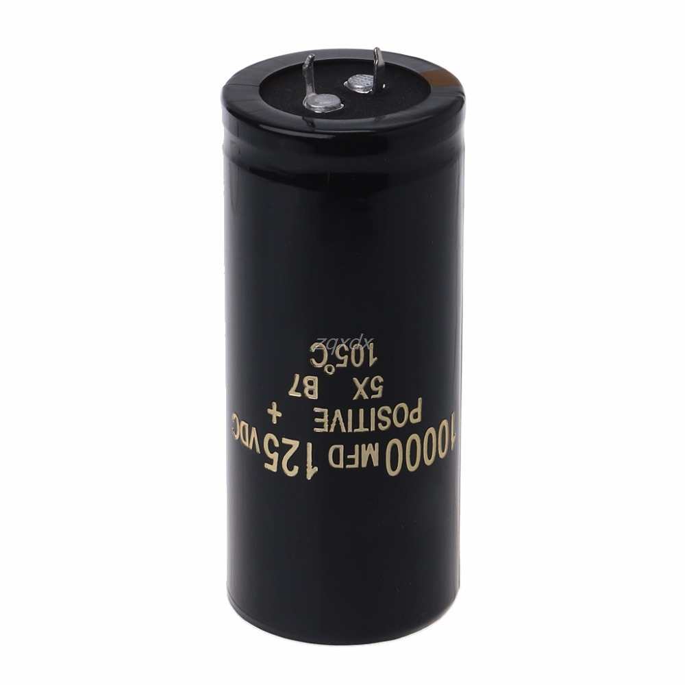 125V 10000uF Aluminum Electrolytic Capacitor Can Replace 120V 100V Audio 35x80mm JAN10 Whosale&DropShip