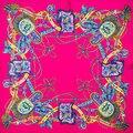 100% Bufanda de Seda Bufanda de Las Mujeres de la Cuerda Nudo Diseñador Bufanda Pañuelo Bandana 2017 Foulard de Seda Pequeña Bufanda de Seda Cuadrada de Regalo de Lujo