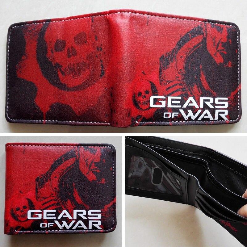 2018 Epic игры Шестерни Войны Логотип кошельки кошелек красный кожаный мужчина женщины новый W135