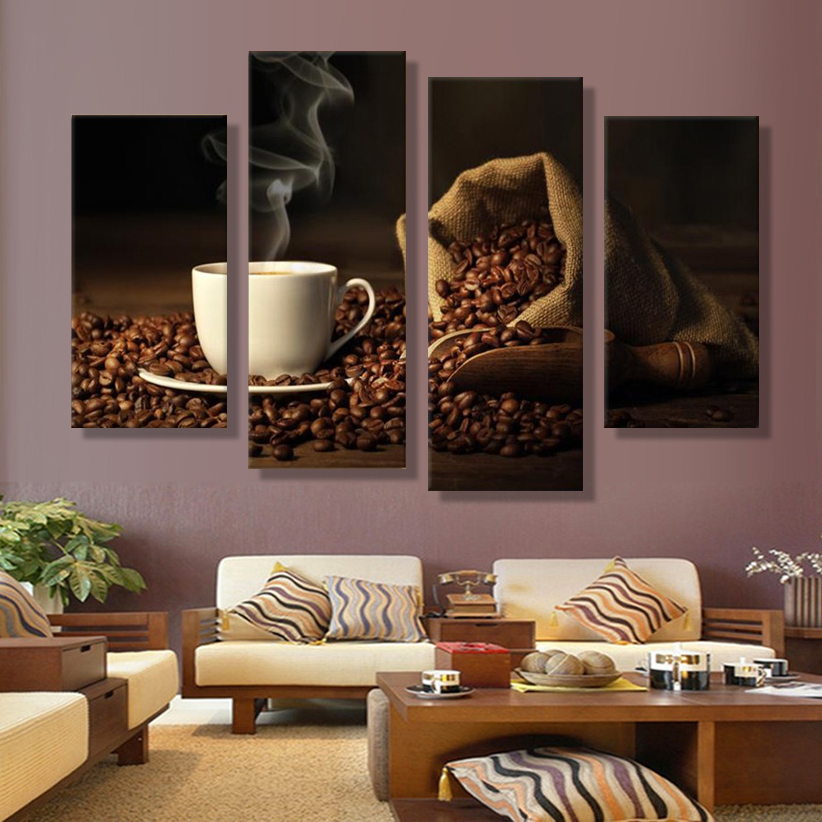 Turkish coffee art deco oil canvas painting painting of for Art deco interior and panel designs