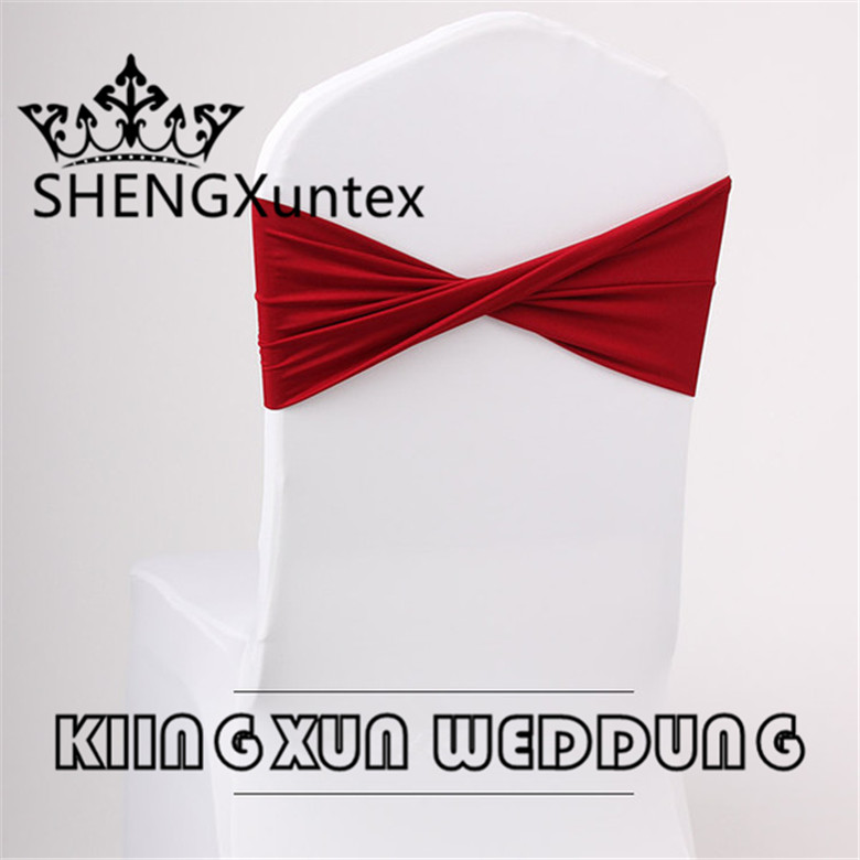 200PCS Sale 15cm*35cm Chair Sash  Lycra Spandex Chair Band Fit On Many Kinds Of Spandex Chair Cover