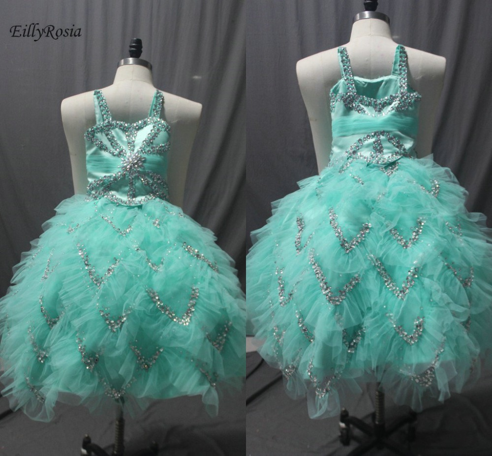 Голубое Платье Для Девочек Пышные платья для выпускного вечера кристаллы женская блуза с послойным расположением ткани, оборочками и v обра