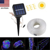 Solar Power 100 LED RGB String lights Fairy for home garden wedding party decora