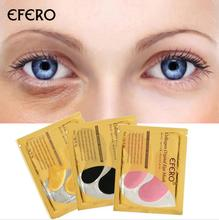 24K Gold Crystal Collagen Eye Mask Eye Patches For Eye Care Dark Circles Remove Anti-Aging Wrinkle Skin Care стоимость