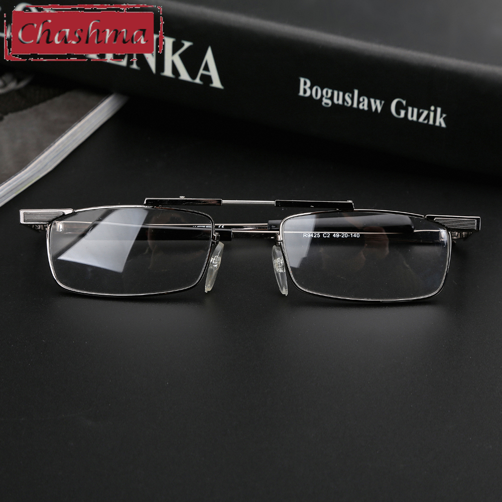 Chashma Brand New Arriving Men Women Eyeglass Foldable Optical Frames Reading Glasses Hyperopia with Case