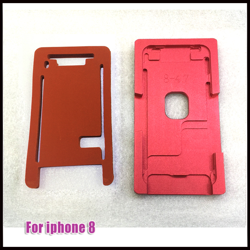 One set Mold LCD Outer Glass Lens Alignment Mould With Laminating Mat Pad For iphone X 8 7 8plus LCD Touch Screen Refurbishment