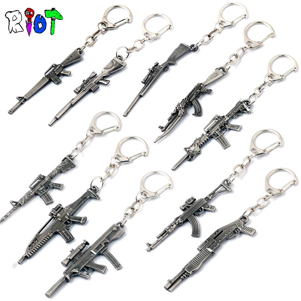 10 style csgo Weapon AK47 Gun Model 6 cm Keychains CS GO Metal Key Holder Men