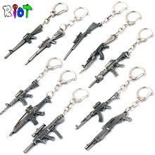 10style csgo Weapon AK47 Gun KeyChains CS GO metal key holder Men Jewelry Pendants Keyring chaveiro key buckle game accessories