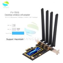 FV T919 Dual band 802.11AC שולחן העבודה Wifi כרטיס 802.11/B/G/N/AC ברודקום BCM94360 אלחוטי bluetooth 4.0 Mac OSX + PC/Hackintosh