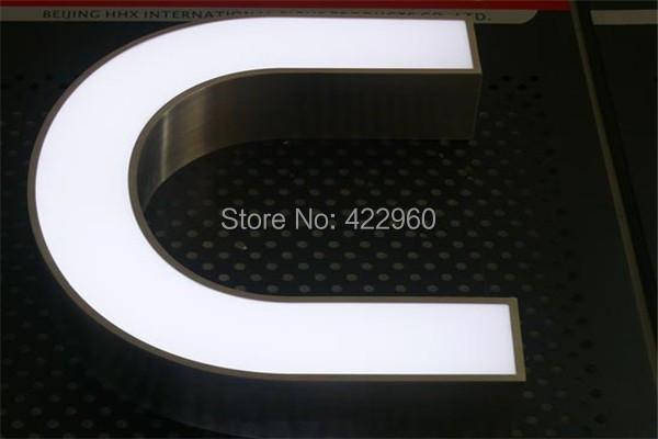 Factoy Outlet Outdoor Acrylic Face Stainless Steel Return Led Custom Signs