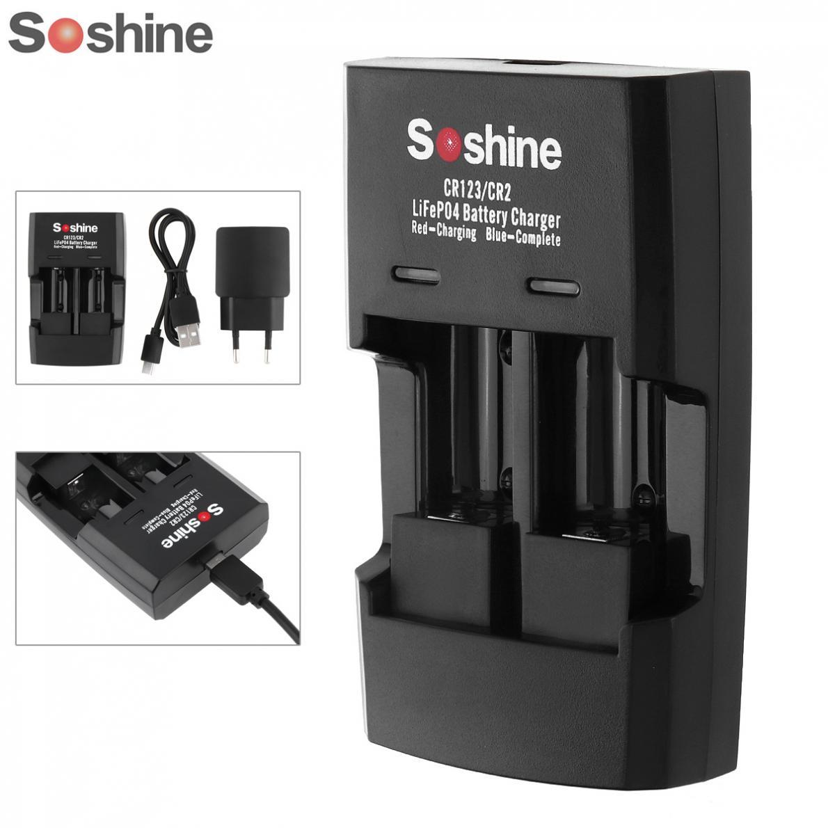5pcs Design Soshine Li FePO4 RCR 123 CR2 Battery Intelligent Rapid Charger