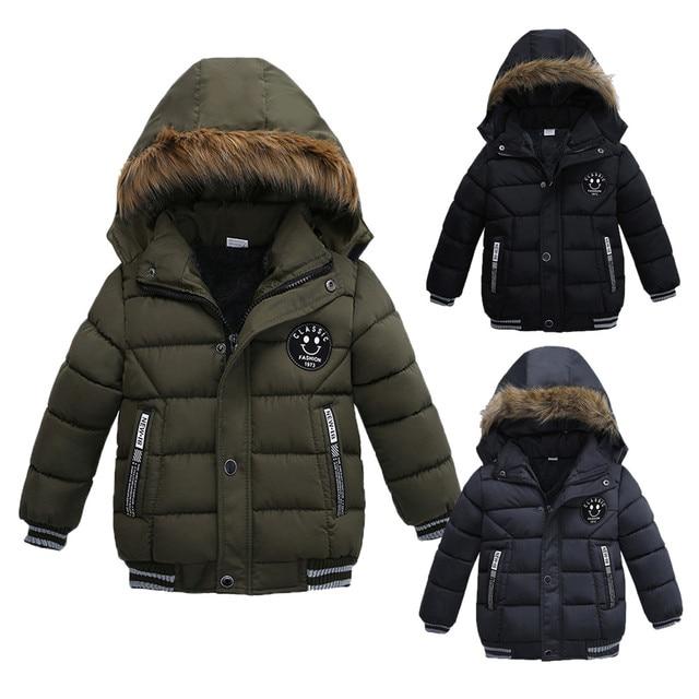 2e5eb41e3 CHAMSGEND Fashion Kids Coat Boys Girls Thick Coat Padded Winter ...