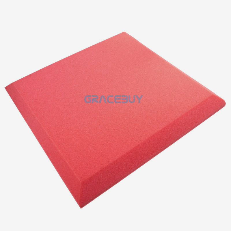 50cmx 50cmx5cm Acoustic Soundproof Foam 24 Pcs Red Spray