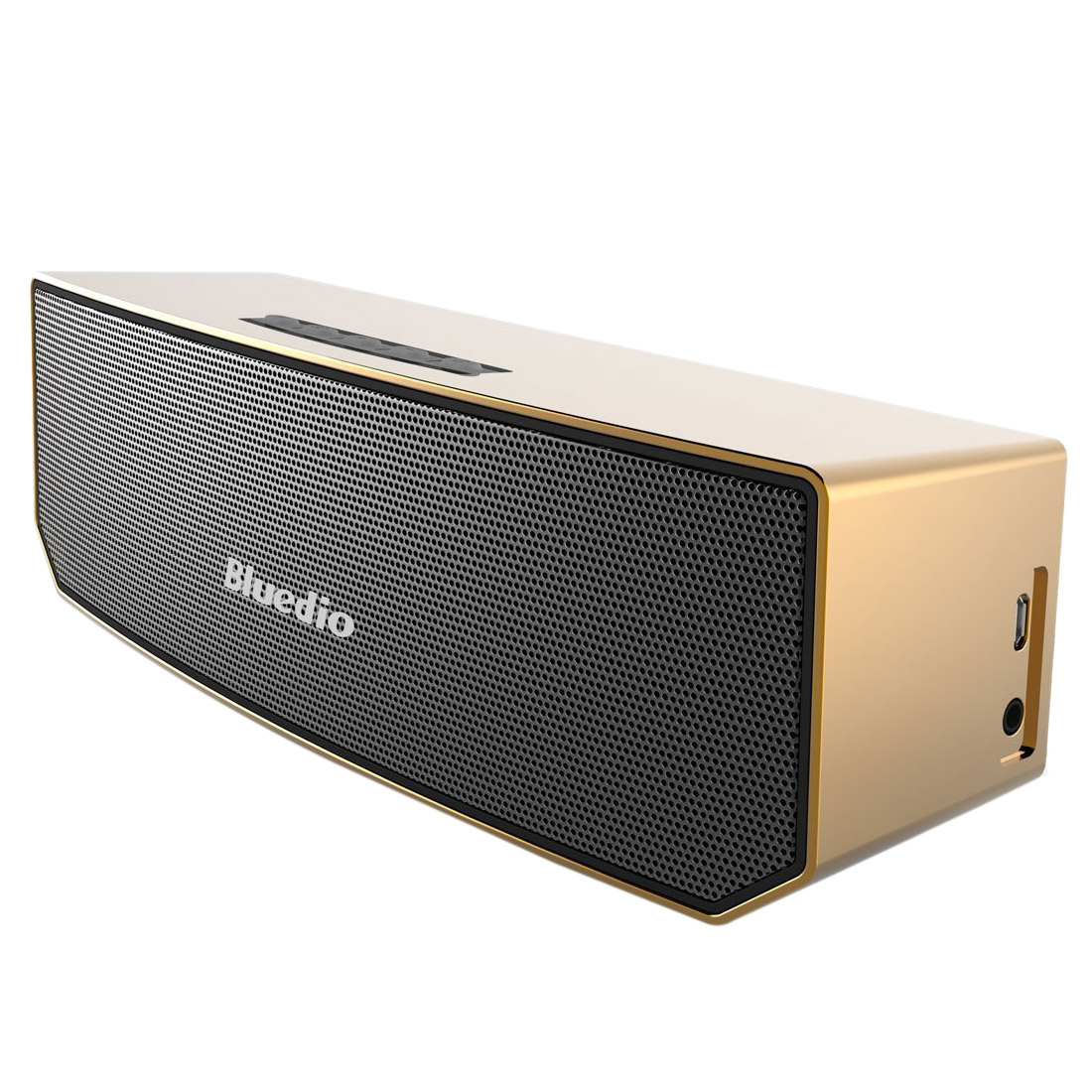 Bluedio BS-3 (Camel) Portable Bluetooth Wireless Stereo Speaker with Mic for Calls,Gold