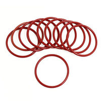 10 Pcs 52mm Outside Dia 3mm Thickness Industrial Rubber O Rings Seals Thickness Industrial Rubber O