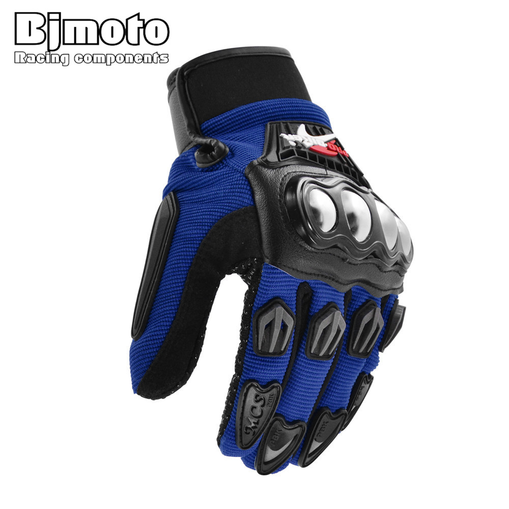BJMOTO NEW Motorcycle Gloves Racing Motocross Full Finger Cross Country Gloves Wearable Breathable Protective Gear M/L/XL