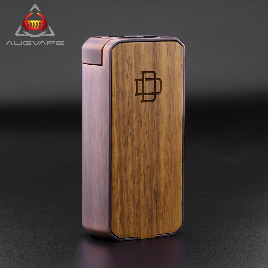 Augvape Druga Foxy Copper Box Mod Quick Release Patent Design Plus And Minus Button To Adjust Voltage Zinc Alloy VV/VW Mod Vape