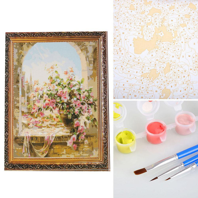 Безрамное Картина На Стене Digital Paint By Numbers DIY Canvas Oil Painting Craft