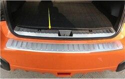 Car Styling ciała ze stali nierdzewnej wewnętrzna tylna bagażnika zderzak listwa wykończeniowa rama lampy próg pedał 1 sztuk dla Subaru XV 2018 2019