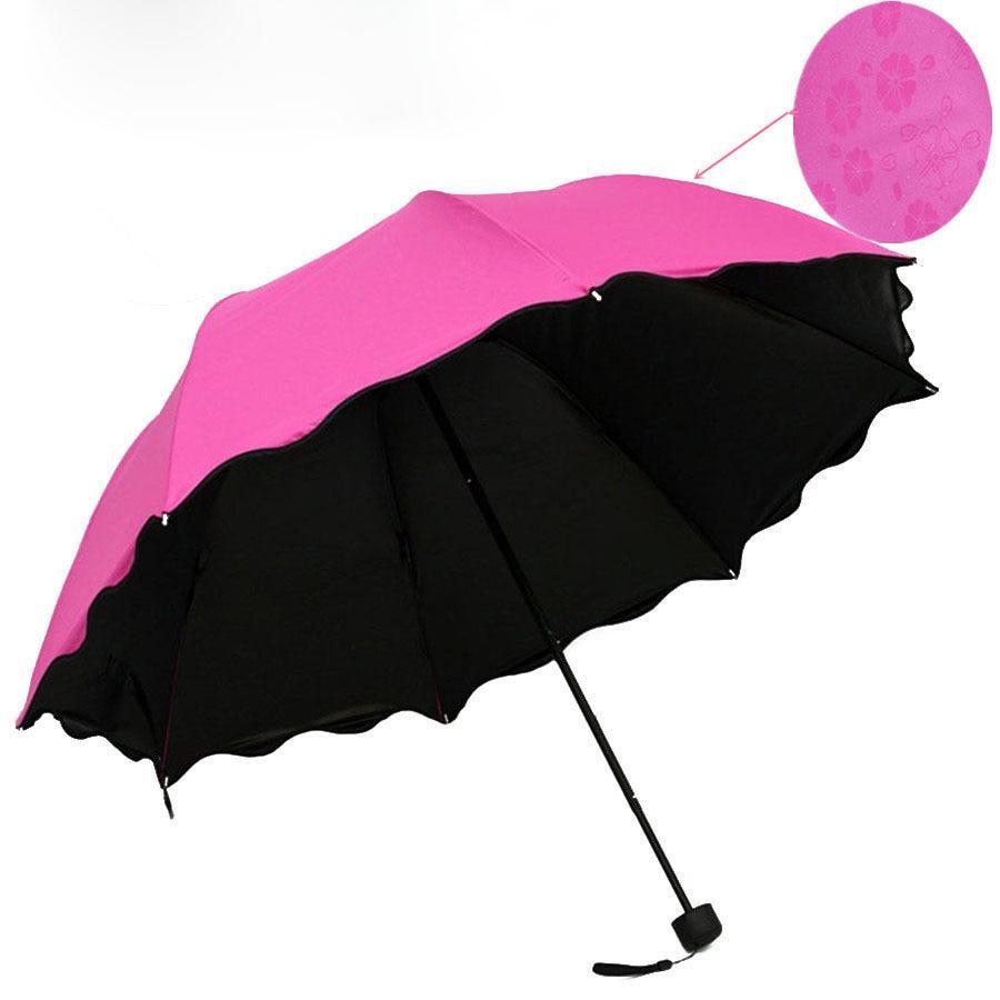 Magic Flower Umbrella Black lepidlo voda květ deštník slunečník - Výrobky pro domácnost