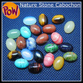 30 Pieces/ Lot Nature Gem stone Cabochon Assorted Beads Accessories Oval Shape Size 10x14mm Mix Colors