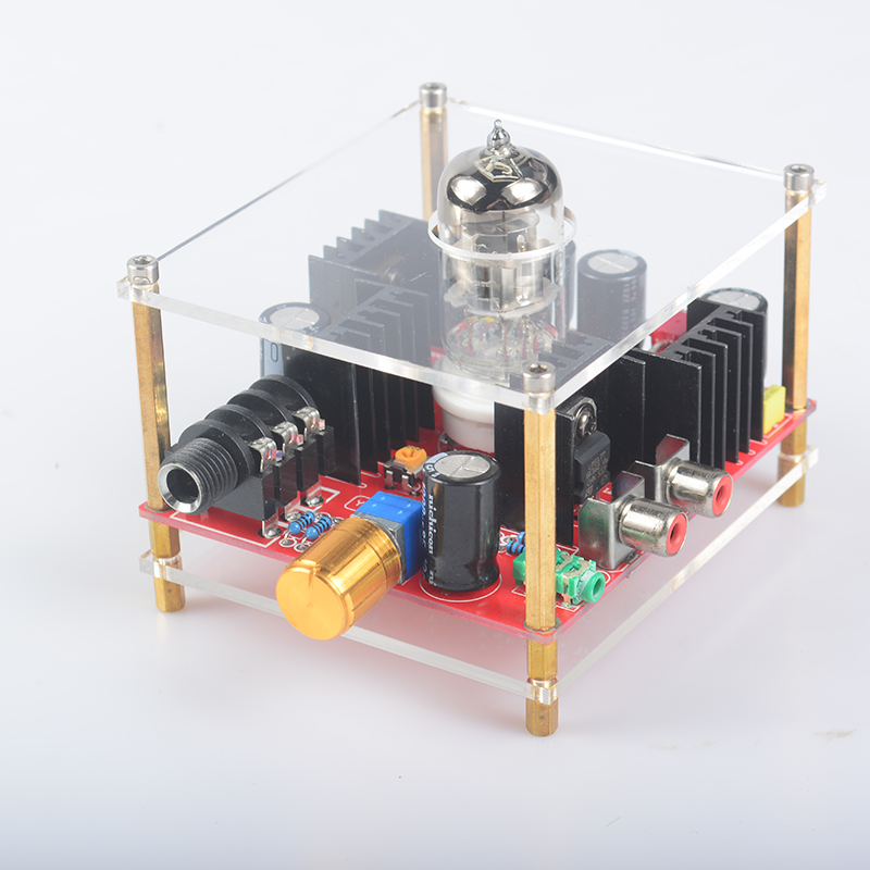 TUBE-11 audio HiFi Class A 6N11 Tube headphone amplifier Integrated Circuits DC24V brand new appj pa1502a valve tube headphone earphone amplifier class a 6n4 6p6p black vintage hifi audio