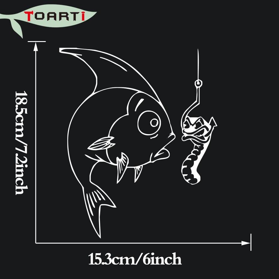 US $1 96 OFF Yang Dapat Dilepas Klub Memancing Ikan Lucu Stiker Mobil Styling Seni Desain Berkualitas Tinggi Vinyl Auto Decals Dekoratif Fashion