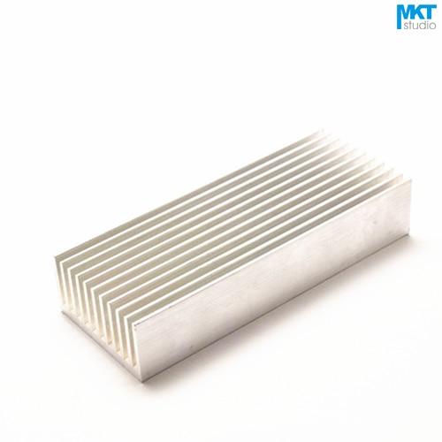 10Pcs 100mmx40mmx20mm Pure Aluminum Cooling Fin Radiator Heat Sink