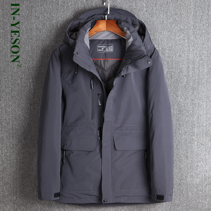 Winter Jacket Men Clothes 2018 Fashion & Casual Thicken Thermal White Duck Down Jacket Hooded Detachable Down Coat -30 Degree