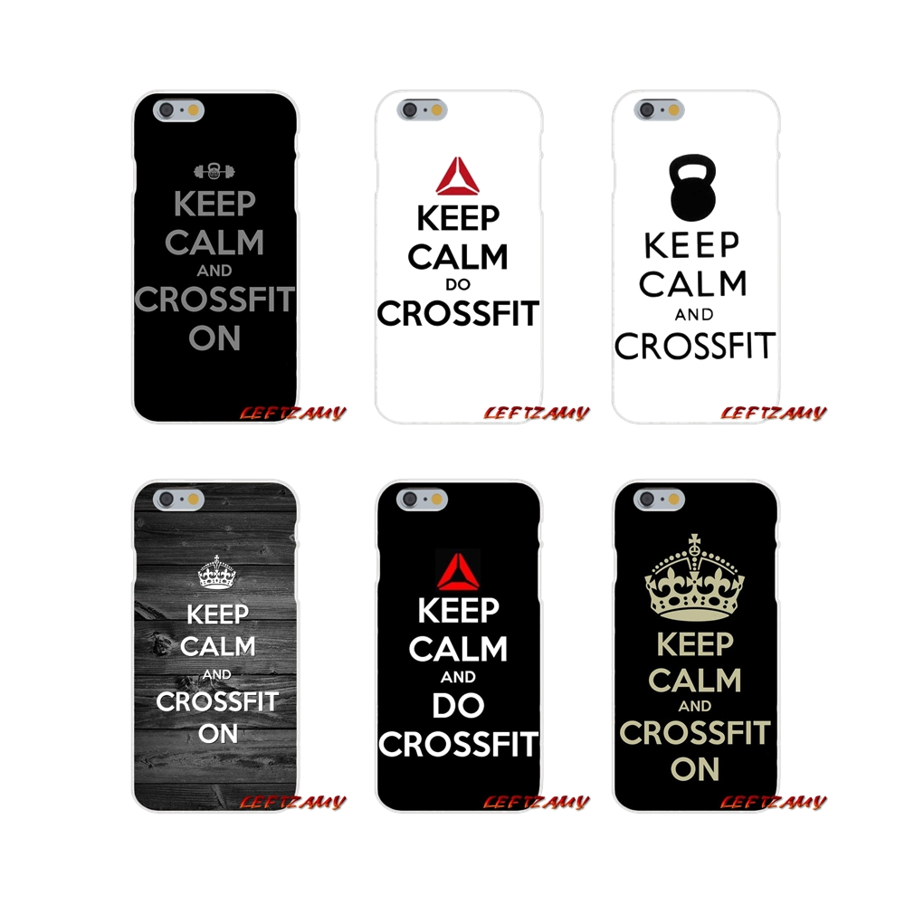keep calm and crossfit on Slim Silicone phone Case For Samsung Galaxy S3 S4 S5 MINI S6 S7 edge S8 S9 Plus Note 2 3 4 5 8