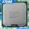 Intel core 2 duo e7500 de 2.93 ghz/3 m/1066 mhz desktop lga775 cpu (trabalhando 100% frete grátis), vender E7300 E7400 E7500
