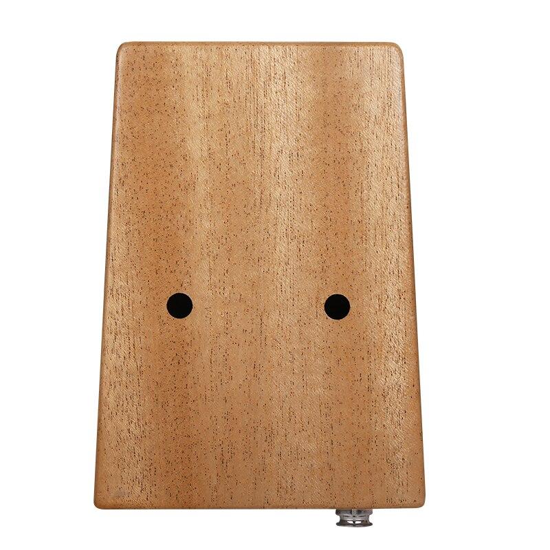 Gecko 17 Toetsen Kalimba Duim Piano Geïmporteerd solid Mahonie Body Muziekinstrument Met EVA Case Leren Boek Tune Hamer K17MEQ - 4