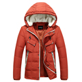 Hood White Duck Men's Down Jacket New Arrival Average 1.3KG/pcs Thicken Outwear Leisure Winter Fashion Down Coat Trench Parkas