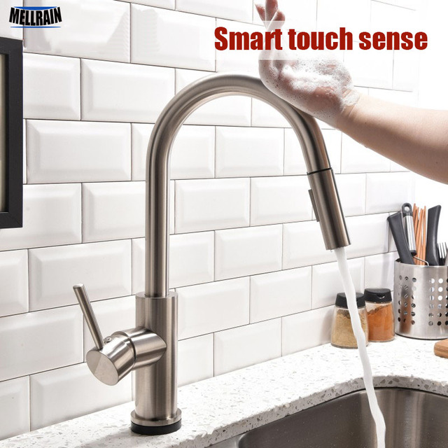 Intelligent Touchless Sens Cuisine Robinet Pull Out Double Reglage